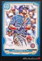 Kyle Schwarber 2020 Topps Gypsy Queen Indigo /250 Chicago Cubs Baseball Card#170