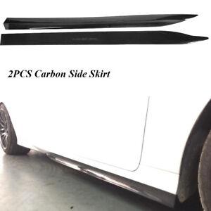 2PCS Auto Carbon Fiber Side skirt Extension Lip Fit for Lexus GS350 4Door 12-15