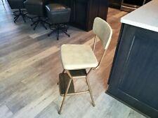 Vintage Mid Century Modern Cosco Kitchen Chair Seat Step Stool Vinyl