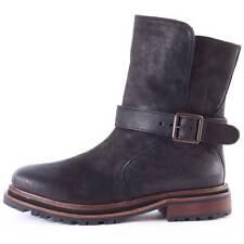 H By Hudson Tatham Womens Bikker Boots Pull On Black Leather New 3 UK 36  EU