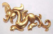 of Art - Dragon - Gold Tone Brooch Pin Pendant - Mma - Metropolitan Museum