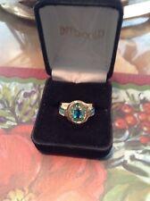 Aquamarine Fashion Rings Size Jewelry Mens yellow Rhodium Plated