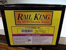 MTH Rail King 30-2131-1 Santa Fe EMD F-3 AA Diesel Set 3 Rail w/ Proto Sound