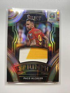 2020 Panini Select UEFA Euro Soccer Triumph Relics Prizm : Paco Alcacer - Spain