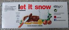 """Aufkleber Ferrero Nutella Name Spruch """"let it snow"""" Etikett für Nutellaglas"""