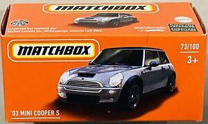 Matchbox '03 Mini Cooper S Silver Grey 2021 New
