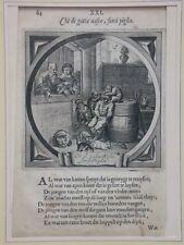 Adriaen VAN DE VENNE, Stich 1632, Chi di gatta Nasce, sorci Piglia/Jacob Cats