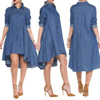 Fashion Women Casual Long Sleeve Short Mini Dress Cocktail Party Evening Bodycon