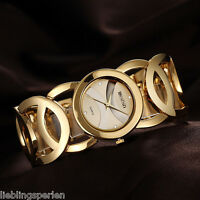 L/P Damen Uhr Quarzuhr Armkette Armbanduhr Analog Stahlband Strass WEIQIN M17048
