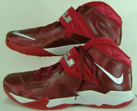 Mens 18 Nike Zoom Soldier VII Lebron Red High Top Basketball Shoes $145 599263