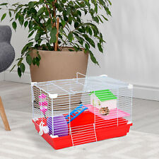More details for pawhut hamster cage pet animal travel cage box double layers w/ accessories