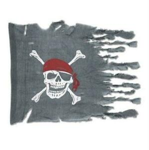 Weathered Pirate Flag Pirate Birthday Party Favor Halloween Decoration