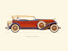 Canvas Print Vintage Car Poster Illustration - DUSENBERG 1929 (TYPE SJ)