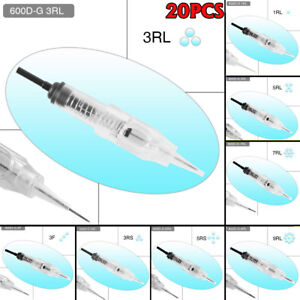 20PCS Disposable Sterilized Needles Cartridge For Permanent Makeup Rotary Tattoo