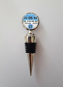 Personalised Any Age Car Tax Disc Polished Wine Bottle Stopper Birthday Gift