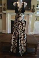 Shimmer By Bari Jay Halter Maxi Bridal Evening Dress With Bustle ~ Size 10