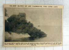 1902 Naphtha Ship, Lying Off Yarmouth Roads, Explodes Off Yarmouth