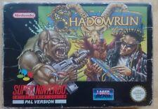 Shadowrun - Super Nintendo - SNES - PAL - Complete In Box