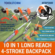 4-STROKE Backpack Pole Chainsaw Hedge Trimmer Saw Brush Cutter Whipper Snipper