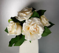 Bouquet of Cream Artificial Silk Roses