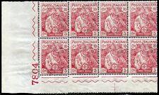 Regno d'Italia 1915/16 Croce Rossa n. 102 ** blocco di 8 (mr129)