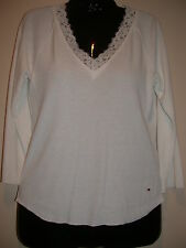 Tommy Jeans Jrs. L Lace Trimmed Top Free Fast Ship!
