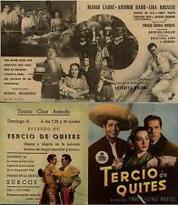Programa PUBLICITARIO de cine: tercio de quites. Mario cabré, Antonio badú.