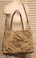 NWT VALENTINO Sand Petale Rosette Logo Crossbody Shoulder Tote Bag Free Shipping