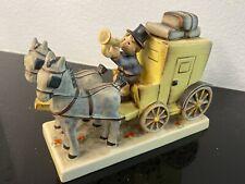 "Hummel Goebel The Mail Is Here #226 6.5"" long Tmk6 Boy w/Horses Stagecoach Mint"