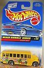 1998 Vintage Hot Wheels #736 Mixed Signals Series 4/4 SCHOOL BUS Yellow Malaysia