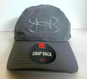 NEW Under Armour Mens Fish Hook HeatGear ISO-CHILL Snap Back Cap-Grey