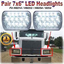 "Fit Mack RD CH SFA MS300P CH600 CS200P 7X6"" LED Headlight Hi/Lo Beam H6054/H6014"