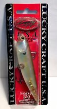 "Lucky Craft USA Series 4"" Sammy 100 Floating Ghost Chartreuse Shad 1/2 oz"