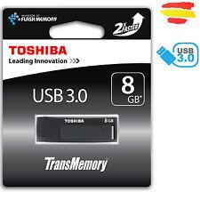 PENDRIVE 8GB TOSHIBA USB 3.0 MEMORIA 2.0 8 GB ORIGINAL PEN DRIVE NEGRO
