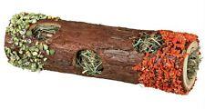 De Madera Tubo túnel con heno y comestibles Zanahoria & pea Hamsters Ratones Jerbos 20cm