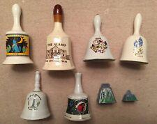 Lot of 8 Vintage Texas Bells - Alamo, Moody Gardens, San Jacinto, Bluebonnets