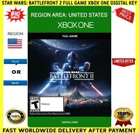 Star Wars Battlefront II 2 Xbox One Full Game Code Key Region (US) UNITED STATES