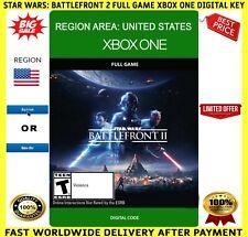 Star Wars Battlefront II 2 Xbox One Full Game Code Key Region (US) UNITED STATES