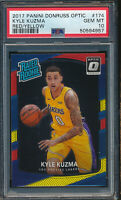 2017 Donruss Optic Red/Yellow #174 Kyle Kuzma RC PSA 10