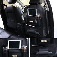 Multifunction Car Seat Back Bag Organizer iPad Holder Multi Pocket Leather Bag