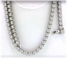 "8 carat Round Diamond Tennis Necklace 14k white Gold 157 x .05 ct 17"""