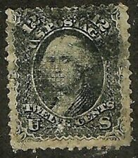 U.S. 1867 Grills Classic Stamp E Grill 12c Washington #90 Wysiwyg Lot HiCat NoR