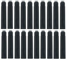 20 - Fountain Pen Refill Ink Cartridges for Kaweco Sport, Pelikan, Sensa - BLACK