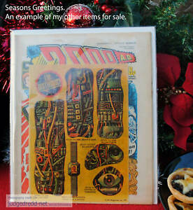 2000AD Comic bags boards Progs Cards Dredd Comic Book Issues & Collectable Items