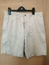 "Men's Cream Shorts 30"" Waist, Debenham Casual Club"