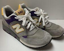 New Balance 580 CM580GPY 9.5 LSU Tigers Purple Gold Shoes