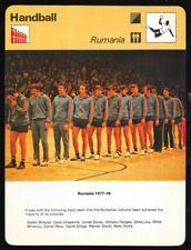 1978 Sportscaster Card Handball Rumania # 50-15 NRMINT/MINT.