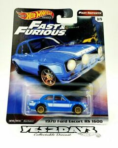 #3 Hot Wheels 2020 Fast & Furious Fast Imports 1970 Ford Escort RS 1600
