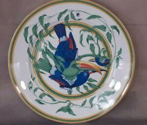 Rare Hermes Toucan Dinner Plate 27 cm 4 available plates