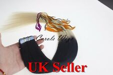 "16"" 50g 8A Russian Slavic Remy Double Drawn Tape-In Human Hair Extensions UK"